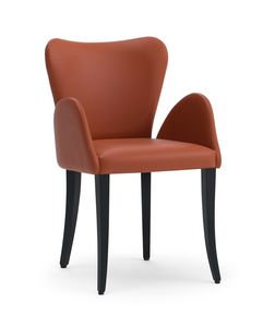 VENTO armchair, Upholstered small armchair, with a classical taste