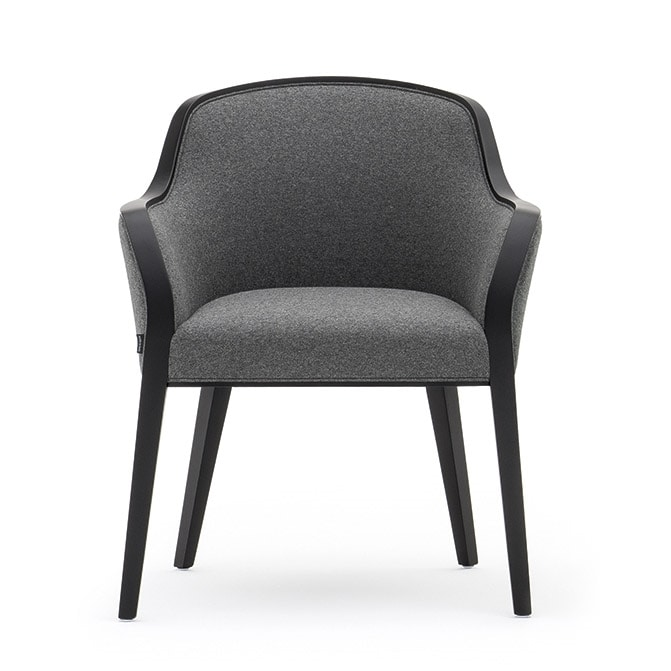 Wave 02731, Padded small armchair suitable for hotel and restaurant