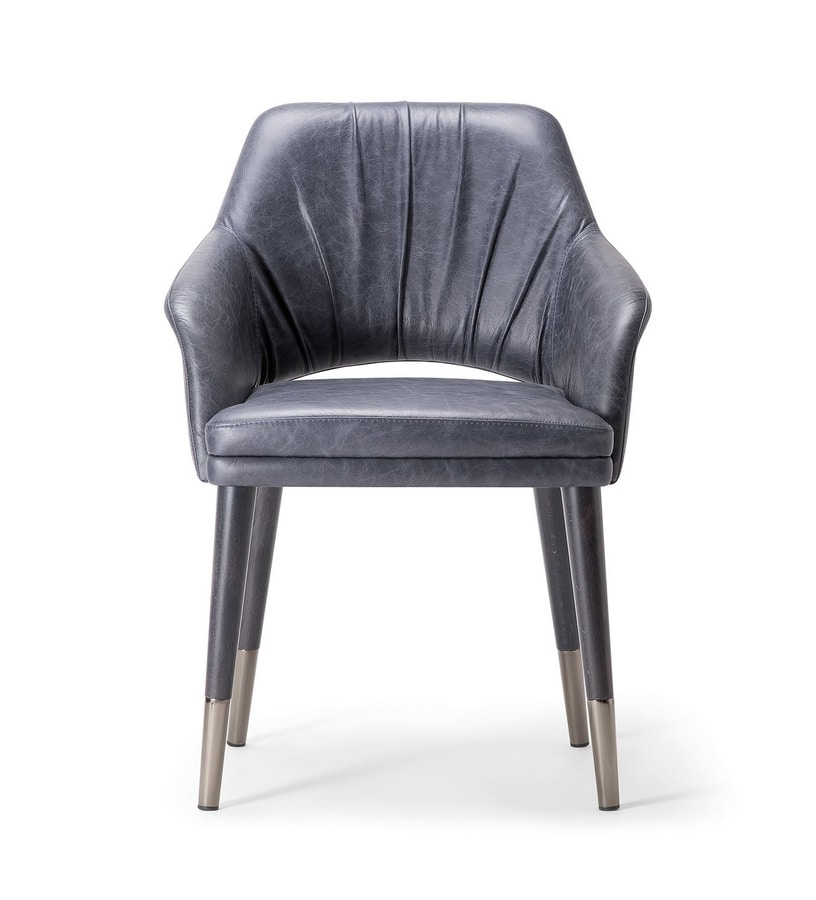 WINGS DINING CHAIR 076 PO, Elegant and sophisticated armchair