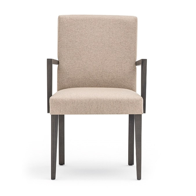 Zenith 01621, Armchair with arms with wooden frame, upholstered seat and back, fabric covering, for contract and domestic use