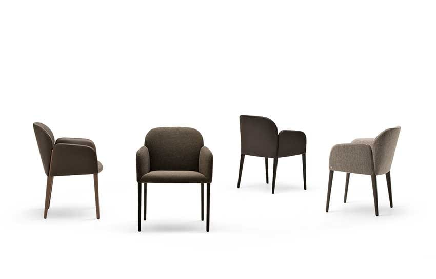 Zip, Upholstered chair with an enveloping comfort