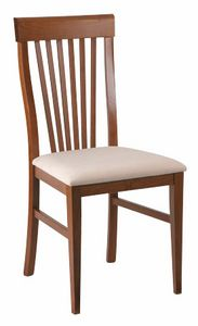 312, Dining chair with backrest with vertical slats
