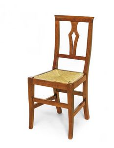 Art.104, Wooden chair with straw seat