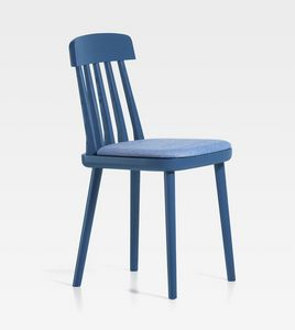 Cut, Ash chair, with upholstered seat
