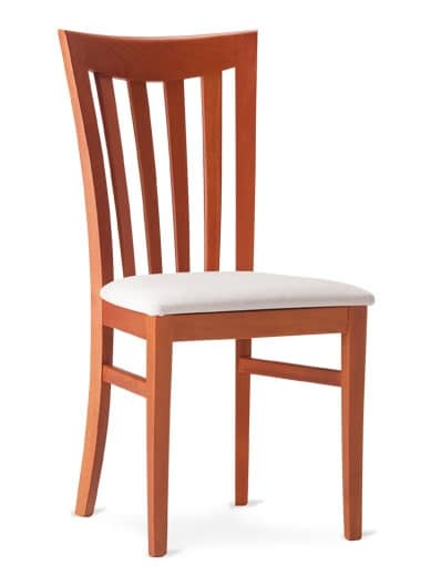 DEMETRA, Wooden chair with backrest with vertical slats
