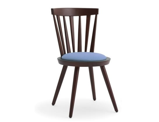 Isolda-S1, Chair with back with vertical slats