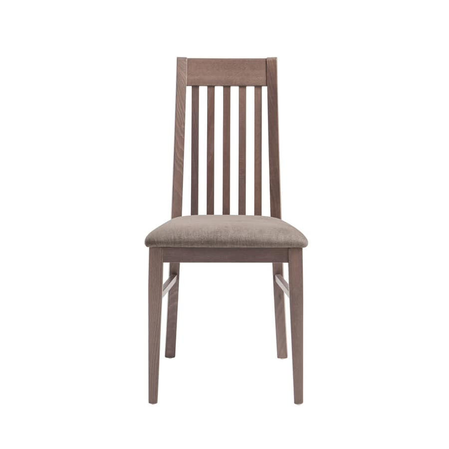 MP490F, Chair with vertical wooden backrest