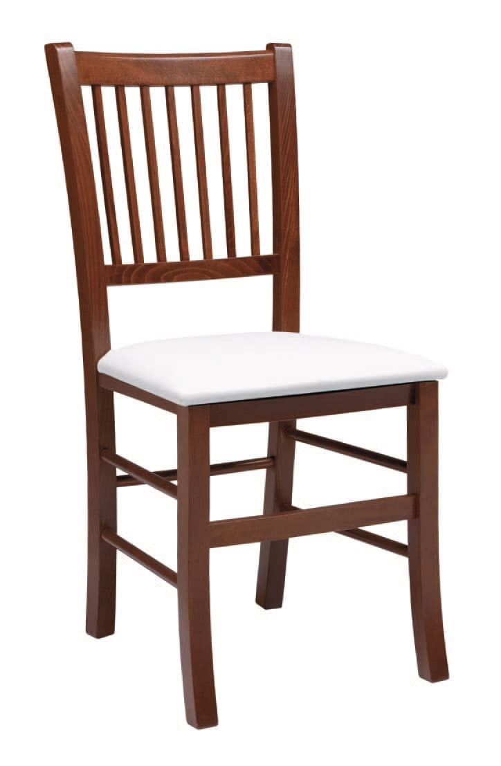 SE 430, Chair with backrest with vertical slats, for restaurants