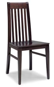 SE 490 / F, Chair in solid beech, back vertical slats