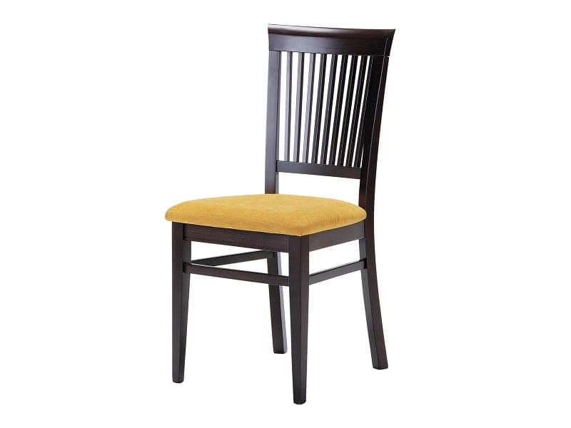Sirast, Chair for dining room, made of wood with upholstered seat