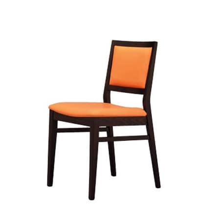 330 I, Dining chair in beechwood, padded, for hotels
