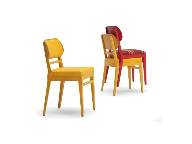Adele-S2, Stackable chairs able to reduce stowage spaces