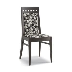 Art. 105, Chair in wood, high backrest, for living room