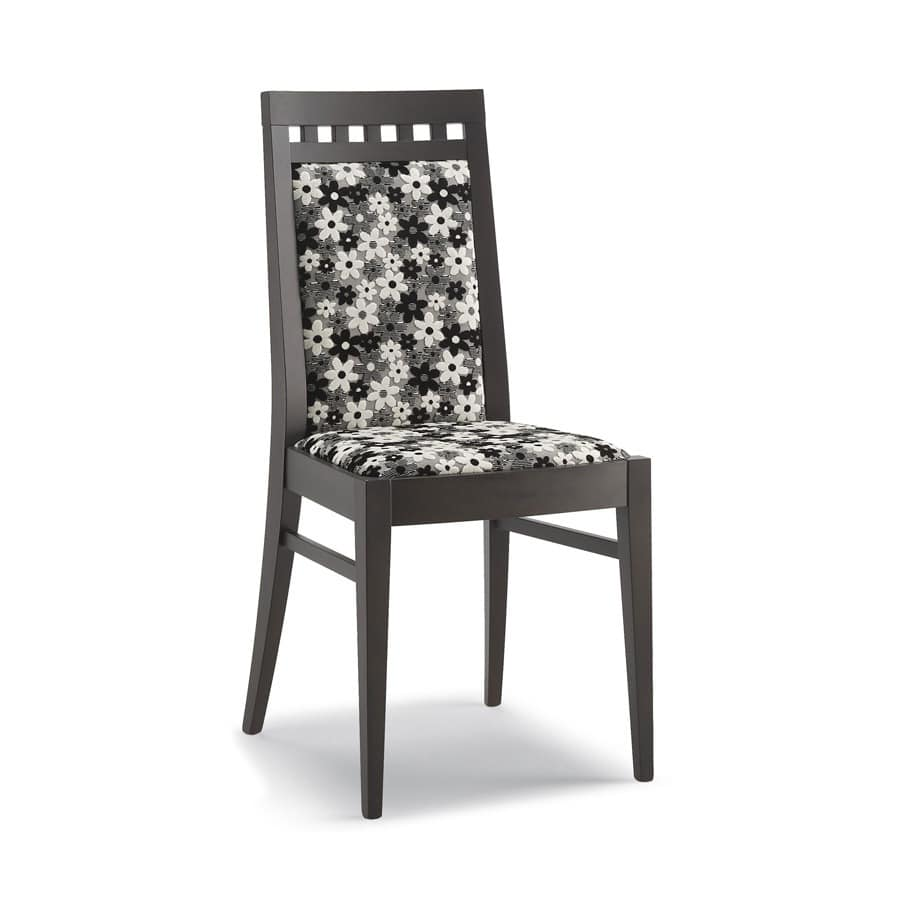 Art. 105, Chair in wood, high backrest, for living room