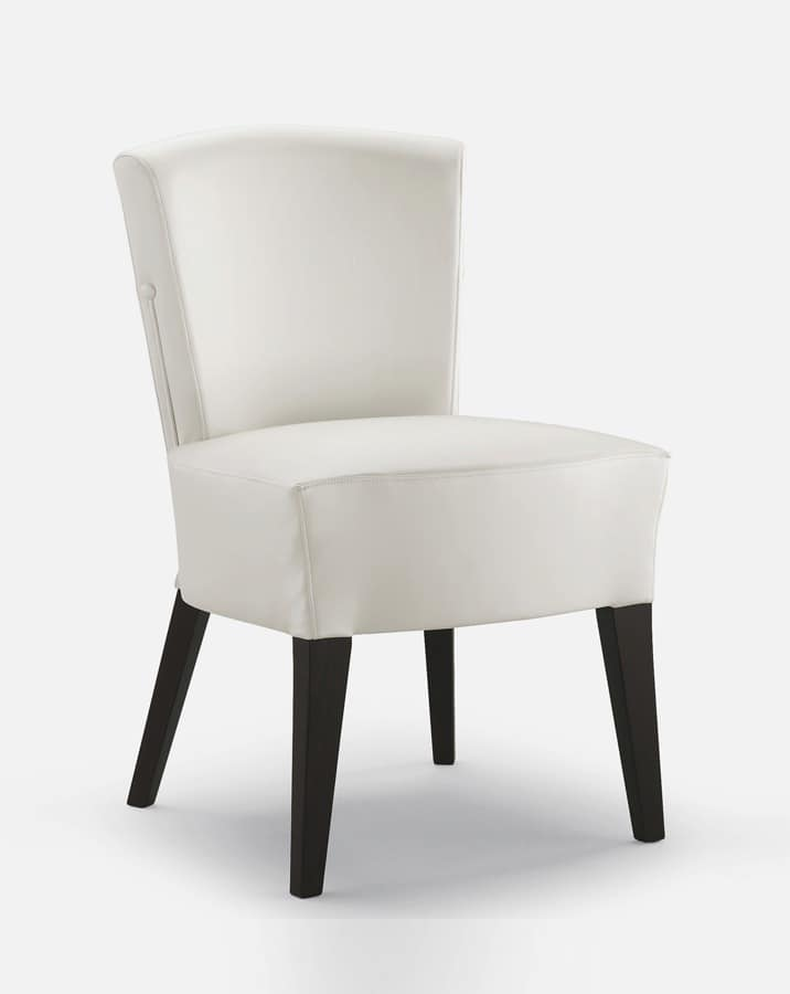 Art. 1220, Dining chair, in wood, padded, for hotel
