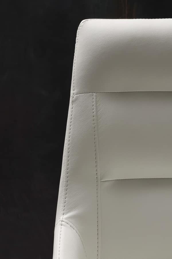 Art. 246 Europa, Elegant chair in eco-leather, for dining room