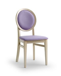 BELLAMIE.2, Chair with padded medallion backrest
