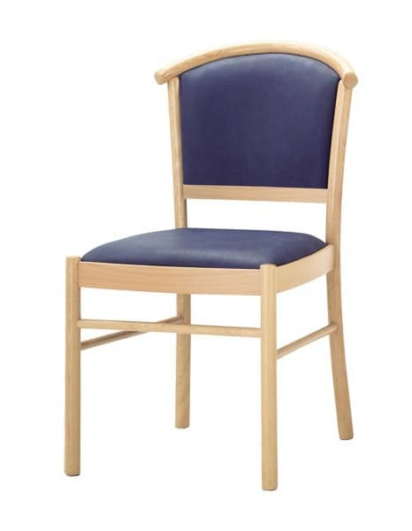 C10, Wooden chair, padded seat and back, for contract use