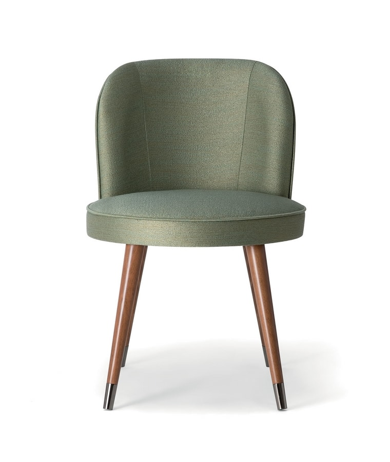 CANDY SIDE CHAIR 061 S, Chair with enveloping and soft lines