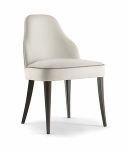 CHICAGO SIDE CHAIR 015 S, Upholstered chair with wooden legs
