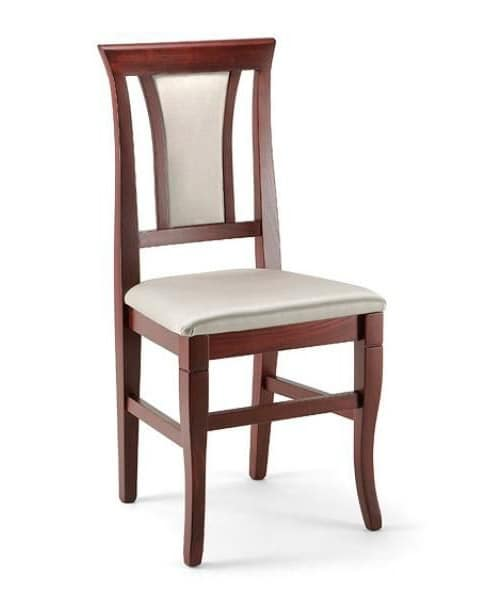 Cleo, Dining chair in beech wood, padded, elegant