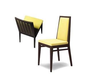 D04, Simple chair in solid wood, for dining rooms