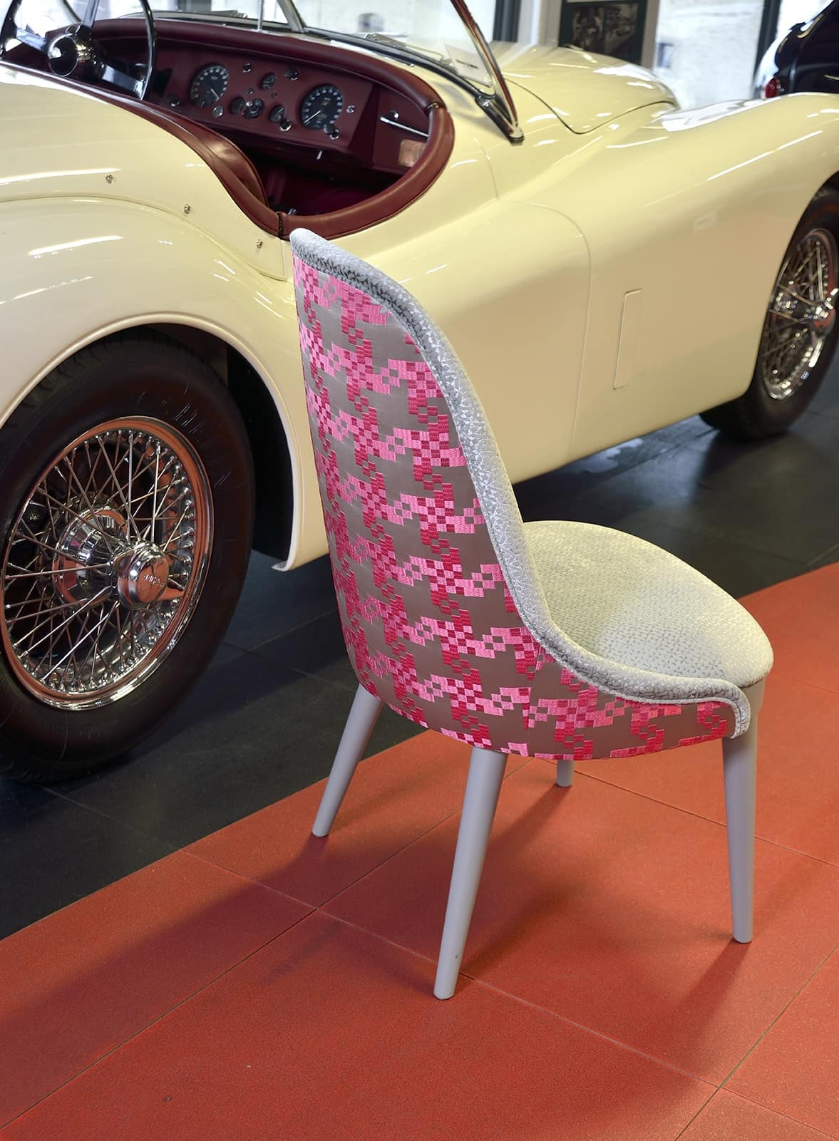 DALIA chair 8777S, Upholstered chair, with clean lines