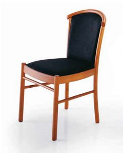 Dolly, Chair in wood, upholstered, for contract use