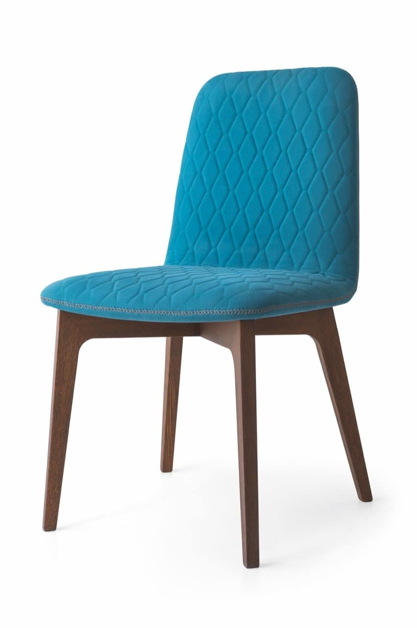 Ellie, Modern chair in beech wood, for restaurants and canteens