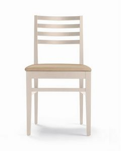 ER 440043, Wooden chair, horizontal slats backrest