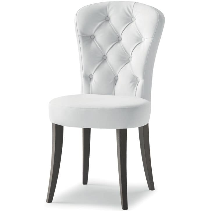 Euforia 00111K, Chair with quilted upholstery, classic contemporary style