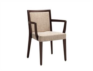 Fan 216, Chair with armrests, stackable, upholstered