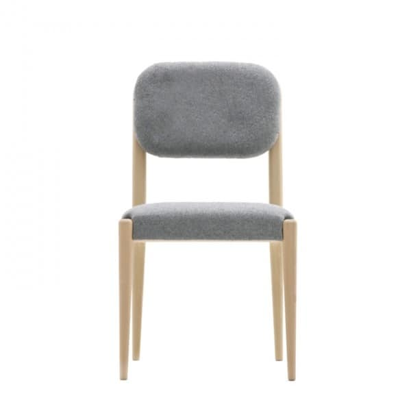 Garbo 03111, Chair upholstered in solid wood, with belted seat