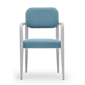 Garbo 03121, Chair with armrests, made of wood, with rounded elements