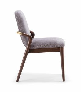 GRACE SIDE CHAIR 074 S, Chair with harmoniously curved backrest