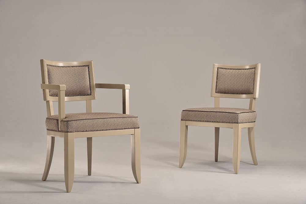 HOLLY chair 8381S, Padded chair in beech wood, for contract use and hotel