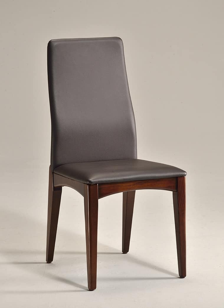 KARINA 2 chair 8478S, Dining chair in natural wood, simple design