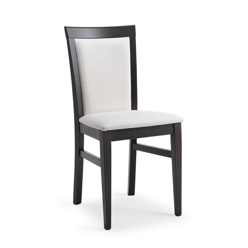 Kim padded, Wooden chair padded, for restaurants and trattorias
