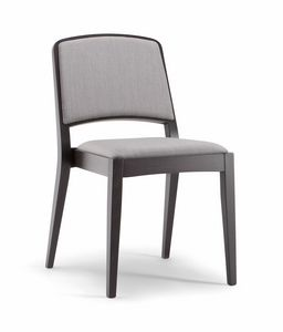 KYOTO SIDE CHAIR 046 S, Padded wooden chair
