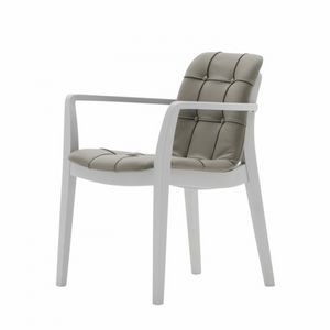 Light 03221K, Chair with armrests with handle, padded, quilted