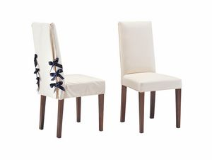 Marina, Chair for elegant dining room, with caneset laces