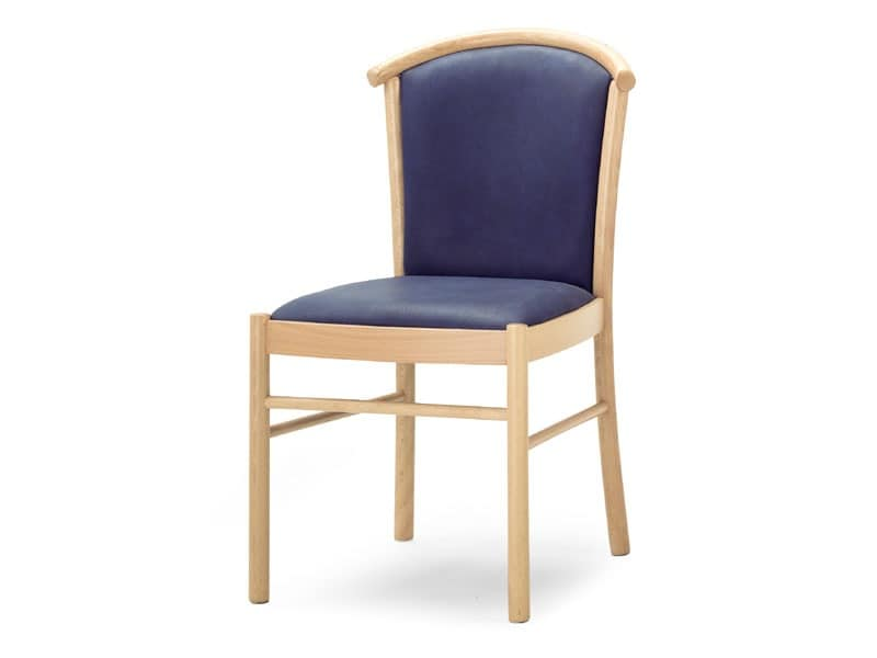 MD/4, Padded wooden chair, for dining rooms