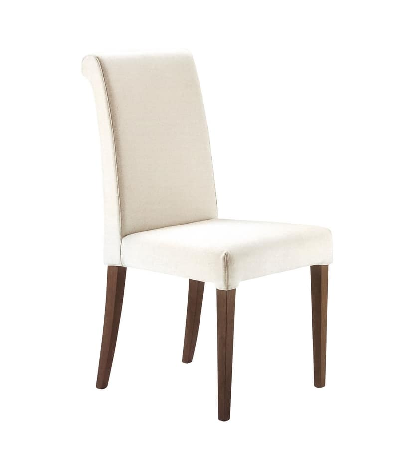 Monica, Chair for hotel and restaurant, with removable upholstery