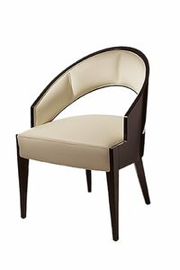 Peggy chair, Chair with large seat, upholstered backrest