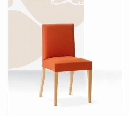 Relax, Beech chair with padded seat and back