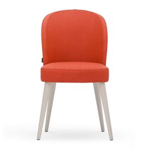 Rose 03011, Chair in foam, with turned legs and seat belted