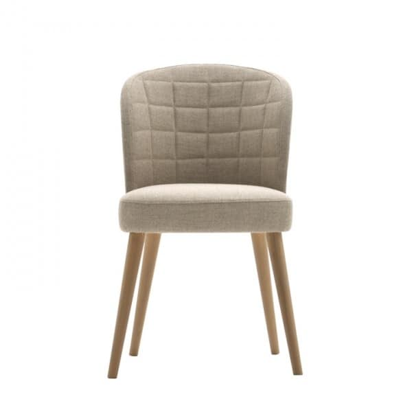 Rose 03014, Padded chair with backrest quilted in rectangles