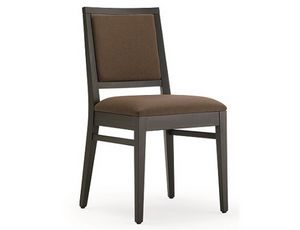 Saba-S1, Padded wooden chair, for restaurants and hotels