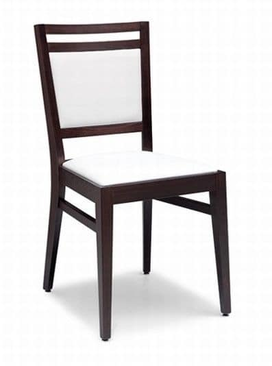 Solange, Wooden chair with padded seat and back