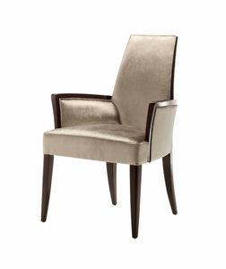 Vendome chair with armrests, Chair with armrests, upholstered, for contract use